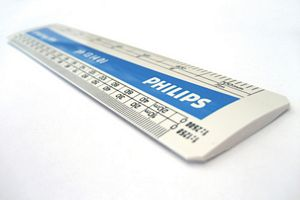 150mm Engineers Oval Scale Ruler