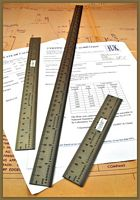 Stainless Steel scale Rulers showing three lengths