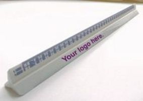 Triangular Scale Ruler with plain side for branding